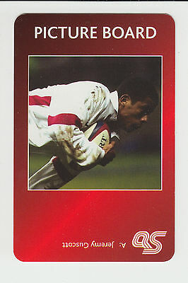 Rugby Union : Jeremy Guscott : England : UK sports game card - red back
