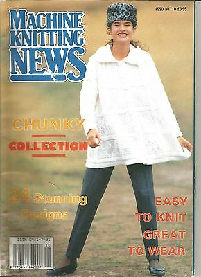 vintage 1990 no 10  machine knitting news chunky collection 24 designs