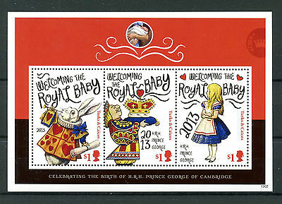 Turks & Caicos Islands 2013 MNH Birth Prince George 3v M/S Royal Baby Stamps