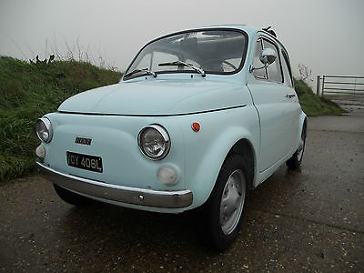Fiat 500 R -1973, Baby Blue, Asi Gold Standard Approved, Outstanding Condition!