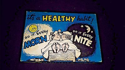 """It's a Healthy Habit"" Risque Vintage iodent Toothpaste & Brushes Original Box"