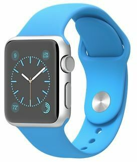 Apple Watch Series 1 42mm Alu Case + Black Leather band + spare blue sports band