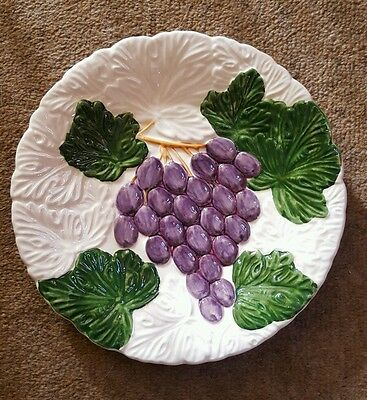 Fruit Du Jour Shafford Plate Hand Painted 1987 8 1/8 inches