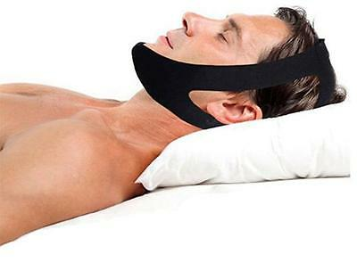 UK New Stop Snoring Chin Strap Anti Apnea Snore Support Belt Quiet Sleep safety