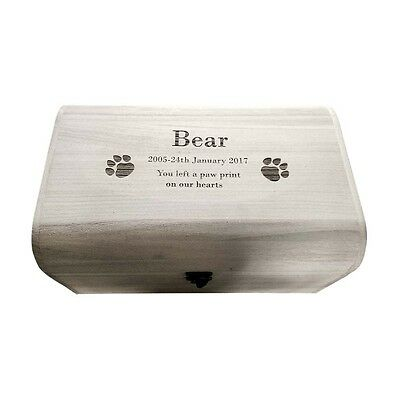Personalised Pet Memorial Ashes Box Dog Cat memorial Small/medium/Large