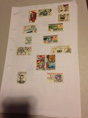 14 Used Stamps Of Czechoslovakia, 1981 To 1984