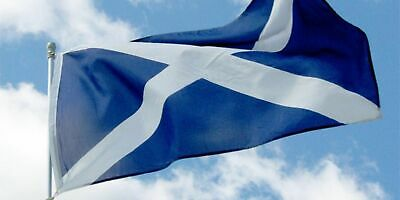 Scotland Saltire St Andrews Cross Navy Blue Flag Rugby 6 Nations