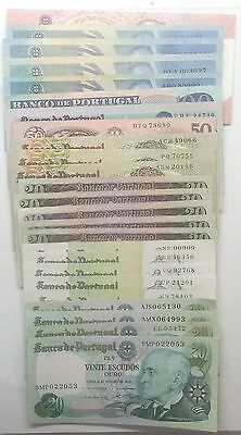 Portugal - 25 Banknotes - Many Values - 1964 To 1988 - Vf/xf/aunc
