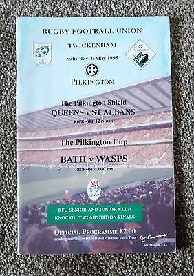 pilkington cup and shield programme 1995