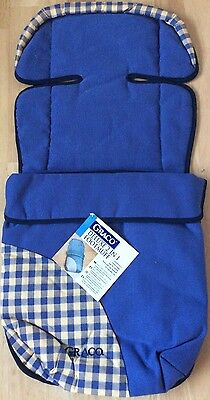Graco deluxe 2 in 1 footmuff  buggy liner blue