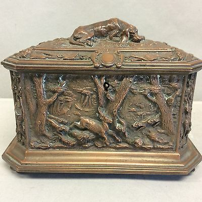 French Bronze Casket 19th C. Paris