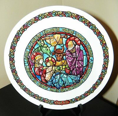 Darceau~Limoges Noel Vitrail~Stained Glass Christmas Plate #2~In The Manger