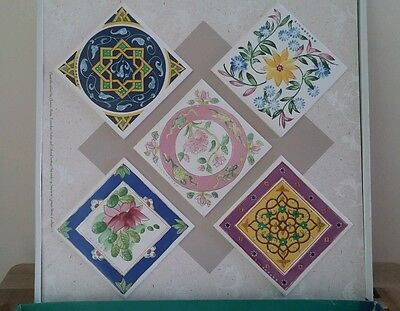 Decorative tiles set of 5,gift set