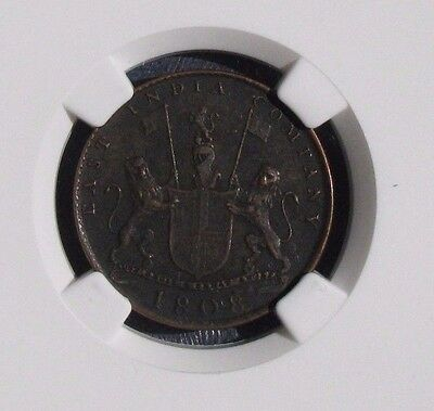 1808 India 10 Cash Madras Presidency NGC Genuine Admiral Gardner Shipwreck Coin