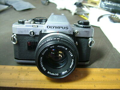 Vintage Olympus OM10, 35mm Film Camera with Zuiko 50mm,f1.8 Lens. Spares or Repa
