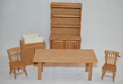 Handcrafted  Pine Dollshouse Kitchen Furniture 12Th Scale