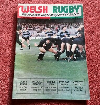 Welsh Rugby Magazine November 1982. Maoris In Wales, Bedwas, Barbarians