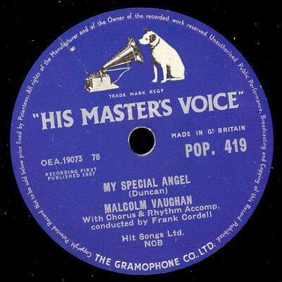 MALCOLM VAUGHAN  My special angel / The heart of a child     Schellack     S7915