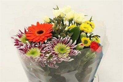 fresh real flowers delivered bouquet very colourful cut flower spring mix