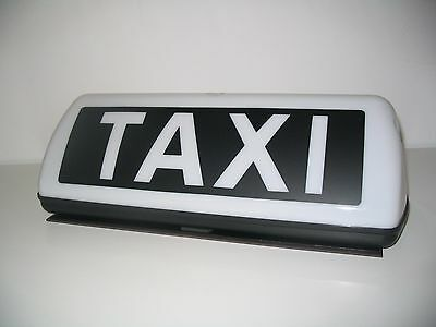 Sehr Starker Led Magnet Taxi-Dachzeichen Big Taxischild Taxilampe 42Cm Weiß Top