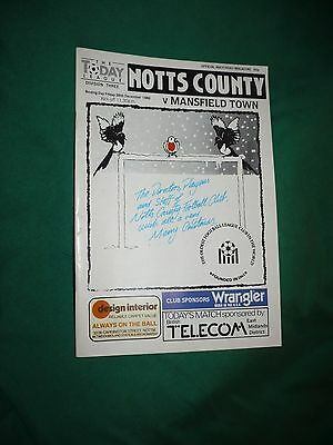 26/12/1986 -Notts County v. Mansfield Town (Division Three)
