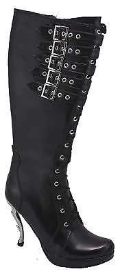 Inamagura Metal Point Heel Boots Black 24hsb115 5 Belts Black