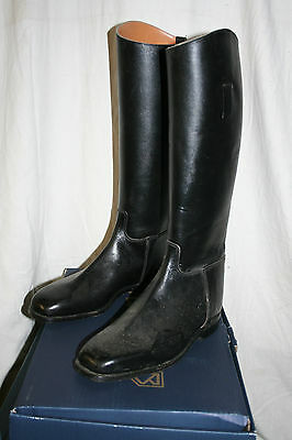 Hunting leather riding boots size 9 by Hawkins unused Black