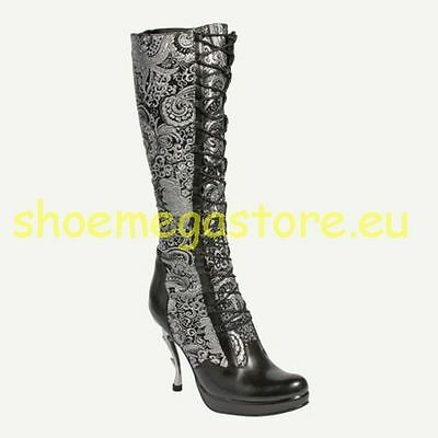 Inamagura Metal Point Heel Boots Silber 24HSB101 Paisly Silver