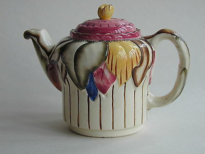 Art Deco HJ Wood Ltd Burslem Majolica like large Tea Pot