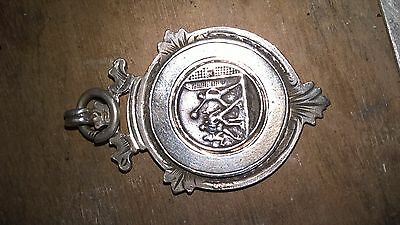 Solid Silver Football Medal/fob 1909