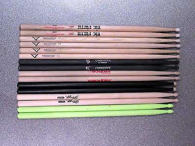 Drum Sticks - Selection Of 16 Light Use