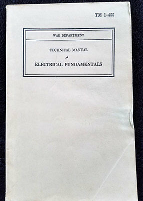 WWII - Electrical Fundamentals - Technical M*nual - TM 1-455 - January 27, 1941