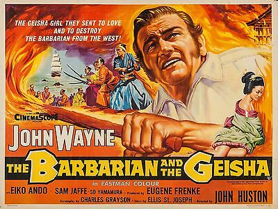 """The Barbarian and the Geisha 16"""" x 12"""" Reproduction Movie Poster Photograph"""
