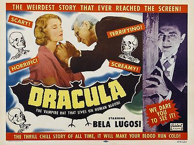 """Dracula 1931 16"""" x 12"""" Reproduction Movie Poster Photograph"""