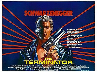 """The Terminator 1984 16"""" x 12"""" Reproduction Movie Poster Photograph 3"""