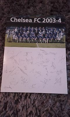 Chelsea team photo with printed autographs 2003-04
