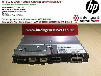 HP BLC 1/10GB-F Virtual Connect Ethernet Switch P/N: 447047-B21 / 447103-001