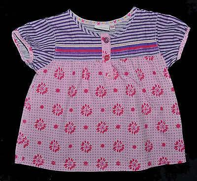 M Williamson Debenhams Baby Girl Floral Top Blouse Age 12-18 Months Summer