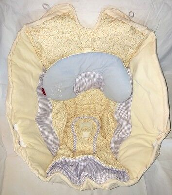 REPLACEMENT Seat Cover, Fisher Price Starlight Papasan Cradle Swing, Periwinkle