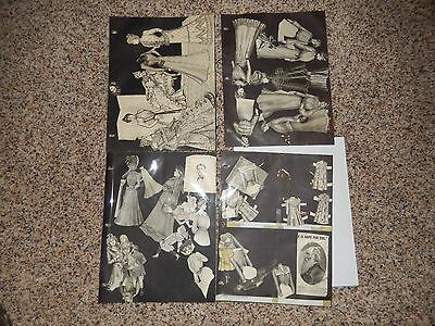 Lot 1890s Paper Dolls and Clothes - Magazine Cut outs