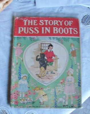 Child's Book 1923 Platt & Munk no.1302 The Story of Puss in Boots 10 pgs Color