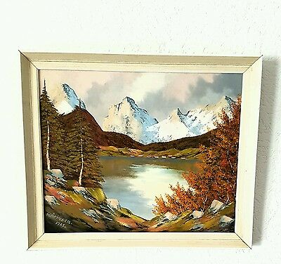 Original (Signed And Dated) Oil Picture Painting  In Original Frame