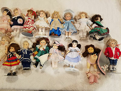 Lot of 16 Assorted VOGUE GINNY Dolls - most very good or excellent condition