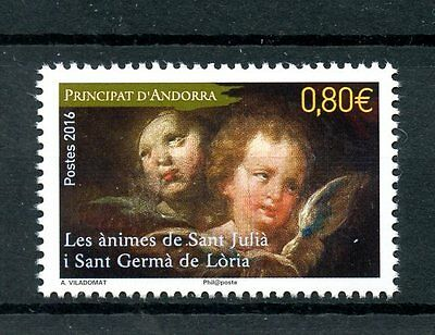 French Andorra 2016 MNH Souls of Saint Julia & Germa of Loria 1v Set Art Stamps