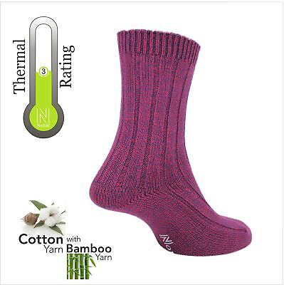 Norfolk Womens Walking Socks with Super Soft Cotton Bamboo Blended Yarn - Suzy