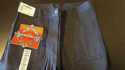 Vintage NWT Women's 18R 18x32 Seafarer Denim Bell Bottom Jeans Disco Party Navy