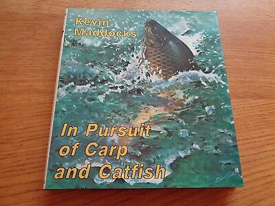 1St Edition In Pursuit Of Carp & Catfish By Kevin Madocks Angling Book Fishing