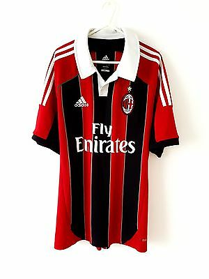 AC Milan Home Shirt 2012. Large. Adidas. Red Adults L Short Sleeves Football Top