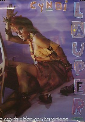 Cyndi Lauper 22x34 Girls Wanna Have Fun Era Poster 1984