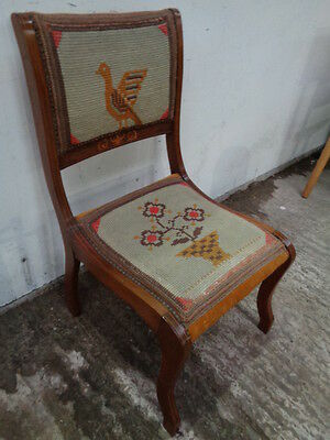 antique victorian padded seat bedroom chair